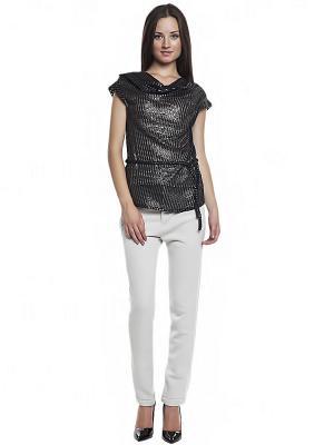 Блузка FRENCH HINT. Цвет: черный