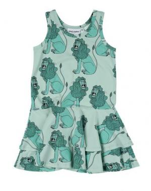 Платье MINI RODINI. Цвет: светло-зеленый