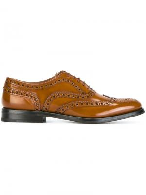 Ботинки-броги Churchs Church's. Цвет: коричневый