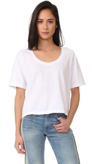 Свободная футболка Three Dots. Цвет: белый