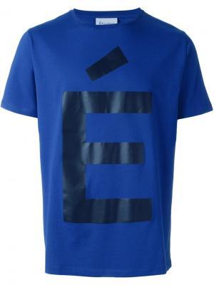 Футболка с логотипом Études. Цвет: синий