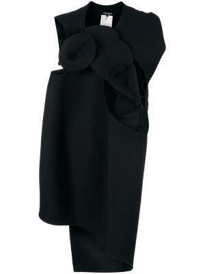 Асимметричное платье оригами Junya Watanabe Comme Des Garçons. Цвет: чёрный
