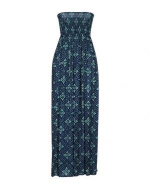 Длинное платье COOLCHANGE. Цвет: синий