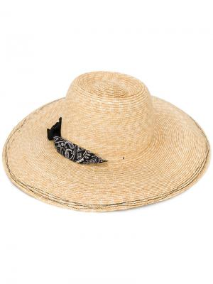 Шляпа с банданой Lola Hats. Цвет: телесный