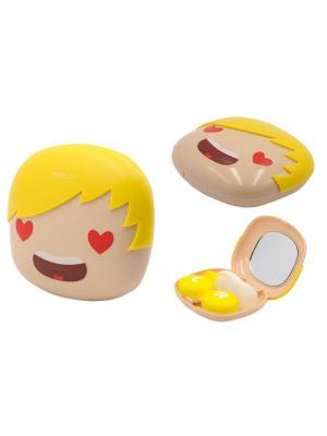 Набор для контактных линз LOVE А8076-С06 Germes. Цвет: бежевый, желтый