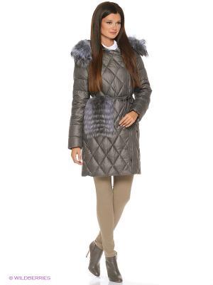 Стеганое пальто FREYA. Цвет: темно-серый