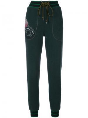 Присборенные брюки Mr & Mrs Italy. Цвет: зелёный