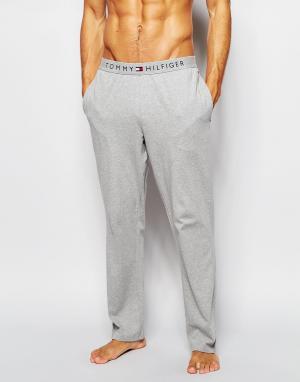 Tommy Hilfiger Хлопковые брюки классического кроя Icon. Цвет: серый