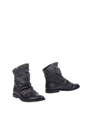 Полусапоги и высокие ботинки FELMINI. Цвет: стальной серый