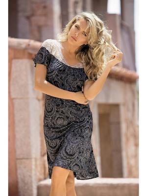 Сорочка Mia-Mia. Цвет: серый