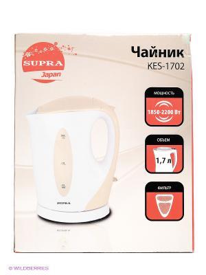 Чайник Supra KES-1702 1.7л. 2200Вт. Цвет: бежевый