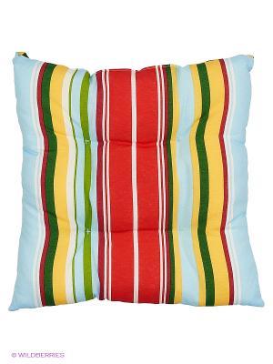 Подушка на стул Rose blu полоса 43х43 см T&I. Цвет: красный