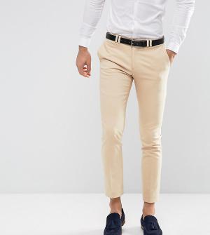 Noak Светло-бежевые брюки зауженного кроя Wedding. Цвет: светло-бежевый