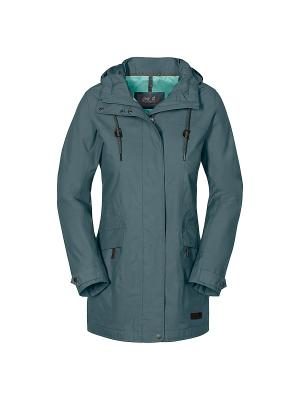 Куртка CAMEIA PARKA W Jack Wolfskin. Цвет: светло-голубой