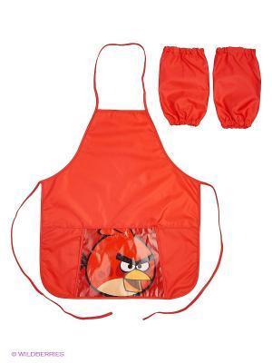 Фартук с карманом  Аngry Birds нарукавниками Centrum. Цвет: красный