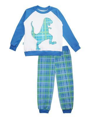 Пижама КОТМАРКОТ. Цвет: белый, зеленый, голубой