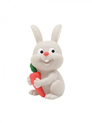 Игрушка для купания Зайчик- Пищалка от 12 мес./24 LUBBY. Цвет: светло-серый