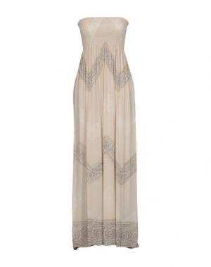 Длинное платье COOLCHANGE. Цвет: бежевый