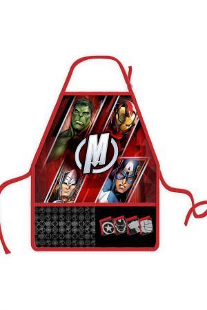 Фартук с нарукавниками Marvel. Цвет: красный
