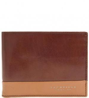 Портмоне из натуральной кожи коричневого цвета The Bridge. Цвет: коричневый