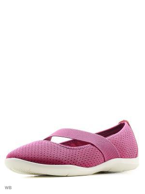 Балетки CROCS. Цвет: фиолетовый