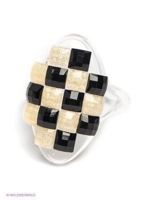 Кольцо Happy Garnets. Цвет: черный, золотистый