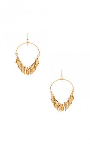 Goddess earrings Mimi & Lu. Цвет: металлический золотой