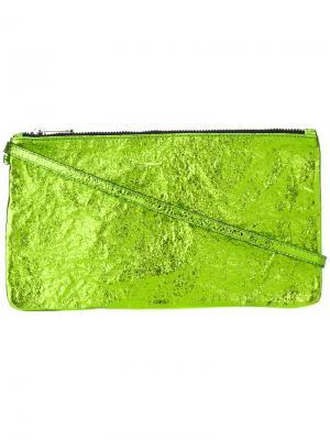 Zipped clutch Zilla. Цвет: зелёный