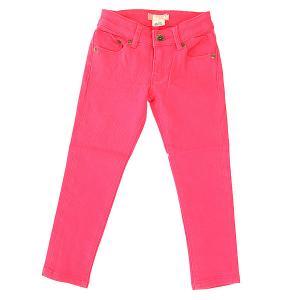 Джинсы прямые детские  Yellow Pant Paradise Pink Roxy. Цвет: розовый