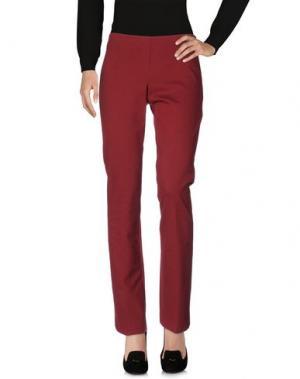 Повседневные брюки SPAGO DONNA. Цвет: красно-коричневый