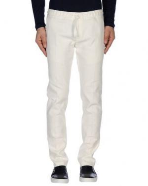 Повседневные брюки DAVID NAMAN. Цвет: белый