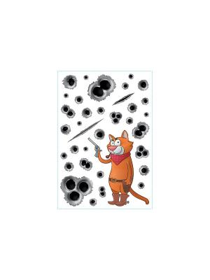 Кот опасный DECORETTO. Цвет: коричневый, красный, оранжевый, черный, серый