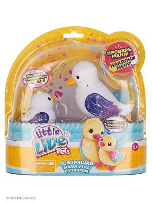 Интерактивная игрушка Little Live Pets Мама утка с утенком Sparkle Moose. Цвет: белый