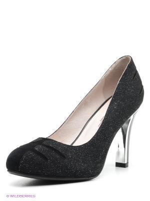 Туфли BELWEST. Цвет: черный, серебристый