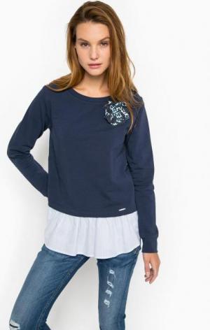 Синий хлопковый свитшот Liu Jo Jeans. Цвет: синий