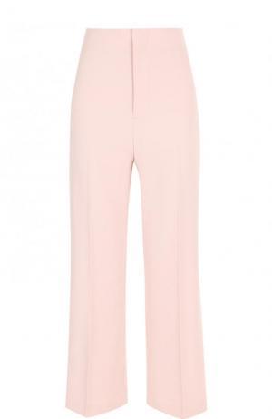 Укороченные расклешенные брюки со стрелками Alice + Olivia. Цвет: светло-розовый