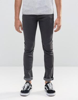 Cheap Monday Серые джинсы скинни. Цвет: серый