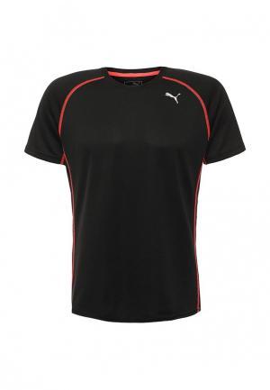 Футболка спортивная Puma. Цвет: черный