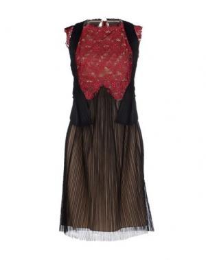 Платье до колена MARIOS SCHWAB. Цвет: красно-коричневый