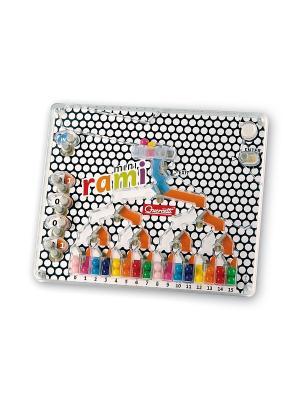Настольная игра Распредели цвета мини Quercetti. Цвет: красный, желтый, белый, черный, синий, зеленый