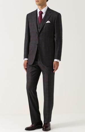 Шерстяной костюм-тройка Kiton. Цвет: коричневый
