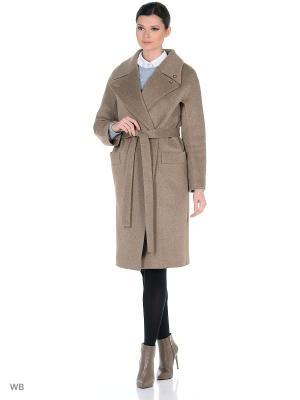Пальто Anora. Цвет: темно-бежевый