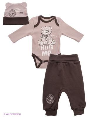 Комплект одежды Апрель. Цвет: темно-коричневый, бежевый