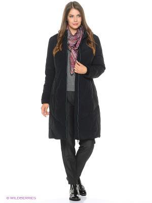 Стеганое пальто Violanti Land. Цвет: черный