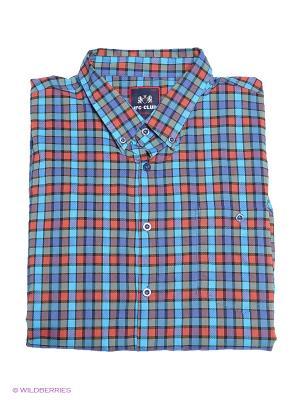 Рубашка IFC. Цвет: бирюзовый