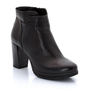 Ботильоны на каблуке Frivol из козьей кожи MJUS. Цвет: черный