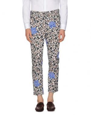 Повседневные брюки THE EDITOR. Цвет: светло-серый