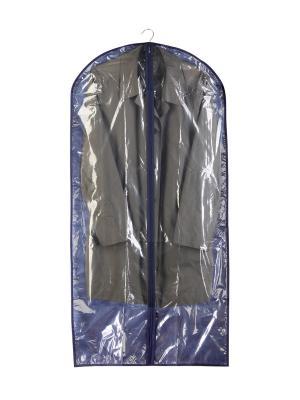 Чехол для одежды (комб.) 125х60см комплект 2шт NIKLEN. Цвет: синий