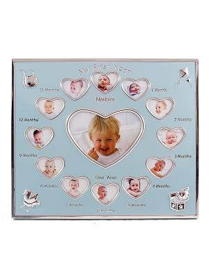 Фоторамка-коллаж Наш малыш на 13 фото Русские подарки. Цвет: голубой