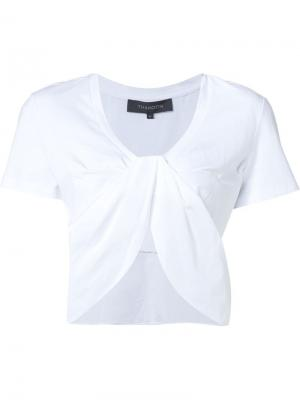 Twisted front crop top Thakoon. Цвет: белый